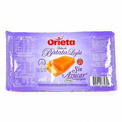 Dulce de Batata sin Azúcar Agregada Orieta x 400 g.