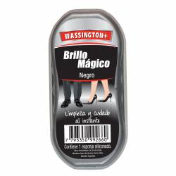 Esponja Siliconada para Calzado Wassington Negro x 1 un.