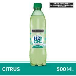 Agua con gas H2Oh Citrus x 500 cc.