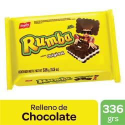 Galletitas Chocolate Rellenas con Vainilla Rumba x 336 g.