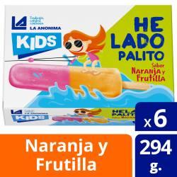 Helado Frutilla Naranja x 6 un. Kids La Anónima x 294 gr.