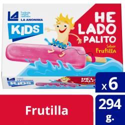 Helado Frutilla x 6 un. Kids La Anónima x 294 gr.