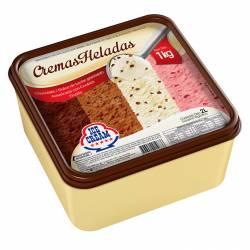 Helado Chocolate DDL Granizado Americana Frutilla c/ Cookies Ice Cream x 1 Kg.