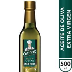 Aceite de Oliva Extra Virgen Pet Cocinero x 500 cc.