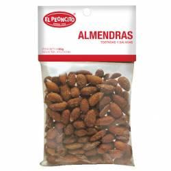 Almendras Saladas y Tostadas El Peoncito x 100 g.