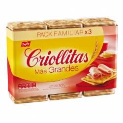 Galletitas Crackers Más Grandes - Untables Criollitas x 507 g.
