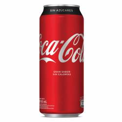 Gaseosa Cola sin Azúcar Coca-Cola Lata x 310 cc.