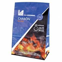 Carbón Vegetal La Anónima x 4 Kg.
