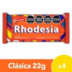 Oblea Rellena Bañada con Chocolate Rhodesia x 4 un. x 88 g.