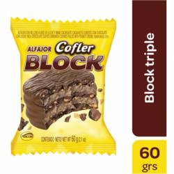 Alfajor Chocolate Triple Cofler Block x 60 g.