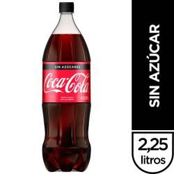 Gaseosa Cola Diet Coca-Cola Zero Pet x 2,25 lt.