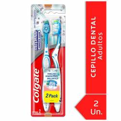 Cepillo Dental Colgate Medio Max White 2x1 x 2 un.