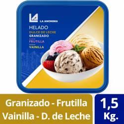 Helado Granizado Frutilla Vainilla DDL La Anónima x 1,5 Kg.