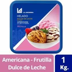 Helado DDL Granizado Americana c/ Salsa Chocolate Frutilla La Anónima x 1 Kg.