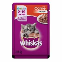 Alimento para Gatito Pouch Carne Whiskas x 85 g.