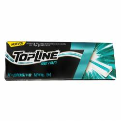 Chicles Top Line Menta 7 un. x 14 g.