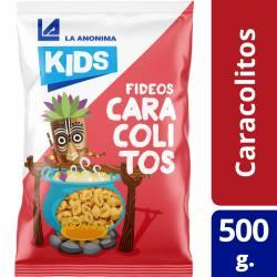 Fideos Caracolitos con Morrones y Espinaca Esp. Kids La Anónima x 500 g.