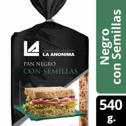 Pan de Salvado La Anónima con Semillas de Lino x 540 g.