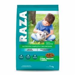 Alimento para Gato Carne Pescado Arroz Raza x 1 kg.