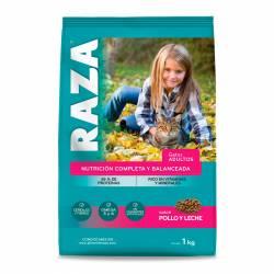 Alimento para Gato Pollo y Leche Raza x 1 kg.
