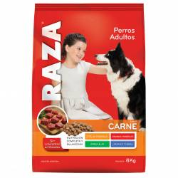 Alimento para Perro Carne Raza x 8 kg.