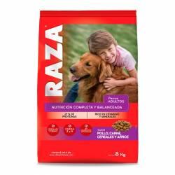 Alimento para Perro Pollo Carne Cereales Arroz Raza x 8 kg.