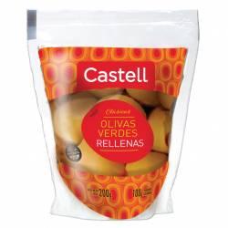 Aceitunas Verdes Rellenas con Morrón Doy Pack Castell x 100 g.