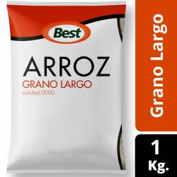 Arroz Grano Largo Fino 0000 Best x 1 Kg.