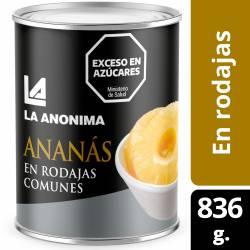 Ananá al Natural La Anónima en rodajas x 836 g.