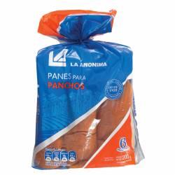 Pan para Pancho x 6 un. La Anónima x 200 g.