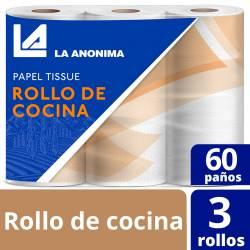 Rollo Cocina La Anónima 3 x 60 paños x 3 un.