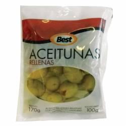 Aceitunas Verdes Rellenas con Morrón Doy Pack Best x 100 g.