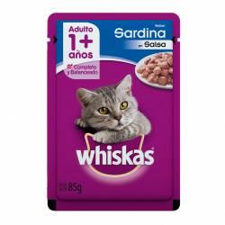 Alimento para Gato Adulto Pouch Sardinas Whiskas x 85 g.