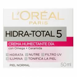 Crema Humectante Dermo Expertise Día Hidratante Total 5 x 50 g.