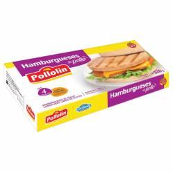 Hamburguesas de Pollo Pollolin x 4 un. 320 gr.