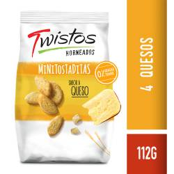 Mini Tostaditas 4 Quesos Twistos x 112 g.