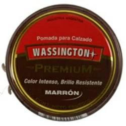 Pomada Lata Premium Wassington Marrón x 65 g.