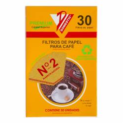 Filtro de Papel p/ Café N°2 Domestic x 30 un.