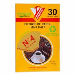 Filtro de Papel p/ Café N°4 Domestic x 30 un.