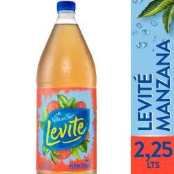 Agua sin gas Levité Manzana x 2,25 lt.