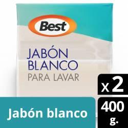 Jabón en Pan Blanco Best x 2 un. x 400 g.