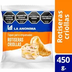 Tapas Criollas para Empanadas Rotiseras  La Anónima x 12 un. 450 g.