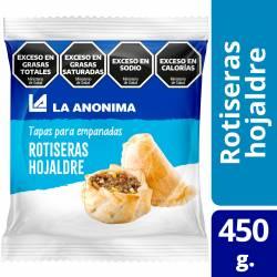 Tapas de Hojaldre para Empanadas Rotiseras La Anónima x 12 un. 450 g.