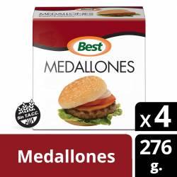 Medallones de Carne Vacuna Best  x 4 un. 276 gr.