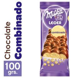 Chocolate Combinado Aireado Milka Leger x 100 g.