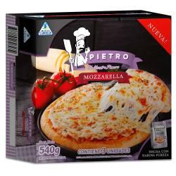 Pizza Mozzarella a la Piedra x 3 un. Pietro x 540 gr.