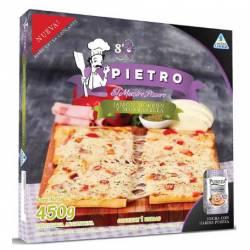 Pizza Jamón, Morrón y Mozzarella Pietro x 450 gr.