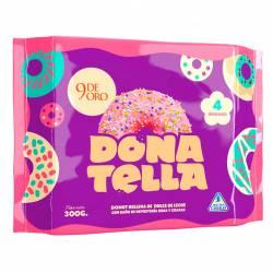 Donut Rosa c/ Granas rellenas DDL x 4 un. 9 de Oro x 300 gr.