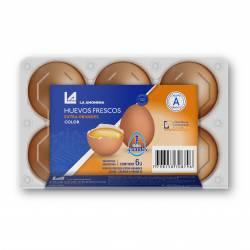Huevo Color Estuche Plástico x 6 un.