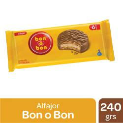 Alfajor Chocolate Bon o Bon x 6 un. 240 g.